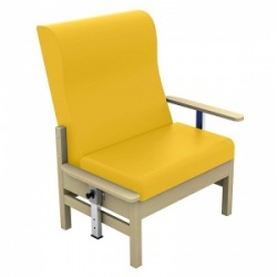 Sunflower Medical Atlas Primrose High-Back Vinyl Bariatric Patient Armchair with Drop Arms