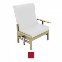 Sunflower Medical Atlas Red High-Back Intervene Bariatric Patient Armchair with Drop Arms