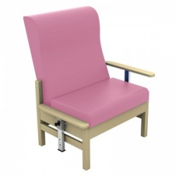Sunflower Medical Atlas Salmon High-Back Vinyl Bariatric Patient Armchair with Drop Arms