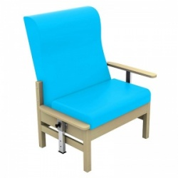 Sunflower Medical Atlas Sky Blue High-Back Intervene Bariatric Patient Armchair with Drop Arms