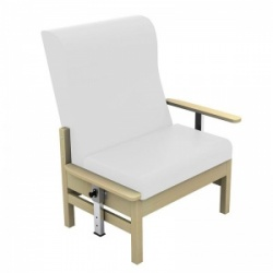 Sunflower Medical Atlas White High-Back Vinyl Bariatric Patient Armchair with Drop Arms