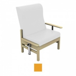 Sunflower Medical Atlas Yellow High-Back Intervene Bariatric Patient Armchair with Drop Arms