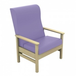 Sunflower Medical Atlas Lilac High-Back Vinyl Bariatric Patient Armchair