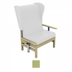 Sunflower Medical Atlas Pastel Green High-Back Intervene Bariatric Patient Armchair with Drop Arms and Wings