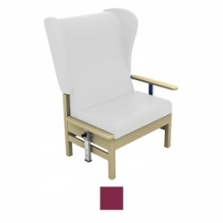 Sunflower Medical Atlas Plum High-Back Intervene Bariatric Patient Armchair with Drop Arms and Wings