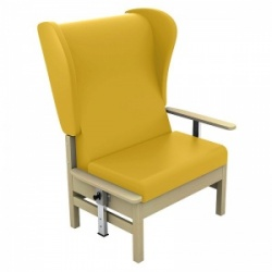Sunflower Medical Atlas Primrose High-Back Vinyl Bariatric Patient Armchair with Drop Arms and Wings