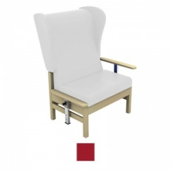 Sunflower Medical Atlas Red High-Back Intervene Bariatric Patient Armchair with Drop Arms and Wings