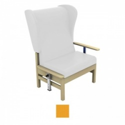 Sunflower Medical Atlas Yellow High-Back Intervene Bariatric Patient Armchair with Drop Arms and Wings
