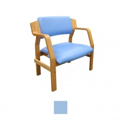 Sunflower Medical Aurora Cool Blue Vinyl Bariatric Armchair