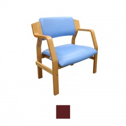 Sunflower Medical Aurora Red Wine Vinyl Bariatric Armchair