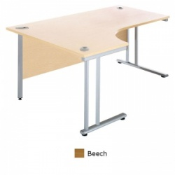 Sunflower Medical Beech 180cm Wide Left Hand J-Shaped Desk
