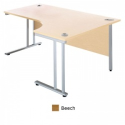 Sunflower Medical Beech 180cm Wide Right Hand J-Shaped Desk
