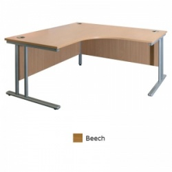 Sunflower Medical Beech 180cm Wide Symmetrical Desk