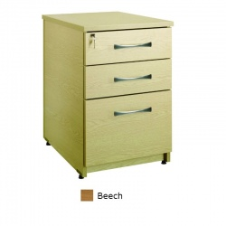 Sunflower Medical Beech Three Drawer Under Desk Pedestal