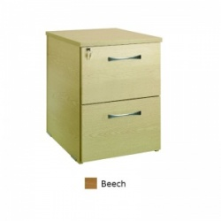 Sunflower Medical Beech Two Drawer Desk Height Pedestal (80cm Depth)