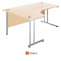 Sunflower Medical Cherry 180cm Wide Left Hand J-Shaped Desk