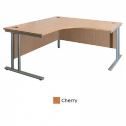 Sunflower Medical Cherry 180cm Wide Symmetrical Desk