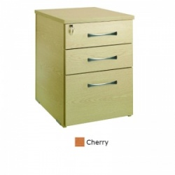 Sunflower Medical Cherry Three Drawer Desk Height Pedestal (60cm Depth)