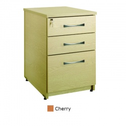 Sunflower Medical Cherry Three Drawer Under Desk Pedestal