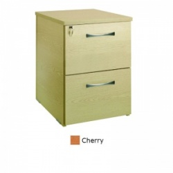 Sunflower Medical Cherry Two Drawer Desk Height Pedestal (60cm Depth)