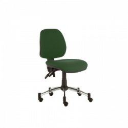 Sunflower Medical Green Mid-Back Twin-Lever Extreme Plus Consultation Chair with Chrome Base