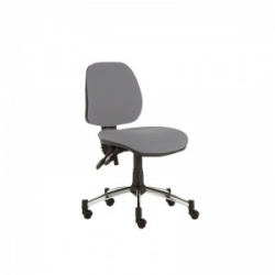 Sunflower Medical Grey Mid-Back Twin-Lever Extreme Plus Consultation Chair with Chrome Base