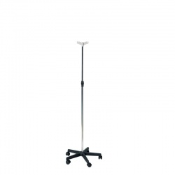 Sunflower Medical Chromed Steel IV Stand with Plastic Base (2 Hooks)