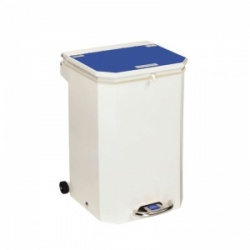 Sunflower Medical 50 Litre Clinical Hospital Waste Bin with Blue Lid for Medical Waste for Incineration