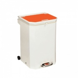 Sunflower Medical 50 Litre Clinical Hospital Waste Bin with Orange Lid for Waste Which May Be Treated