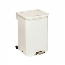 Sunflower Medical 50 Litre Clinical Hospital Waste Bin with White Lid for General Use