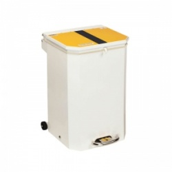 Sunflower Medical 50 Litre Clinical Hospital Waste Bin with Yellow and Black Lid for Offensive and Hygiene Waste