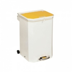 Sunflower Medical 50 Litre Clinical Hospital Waste Bin with Yellow Lid for Incineration