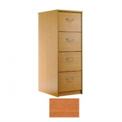 Sunflower Medical Cherry Four-Drawer Filing Cabinet