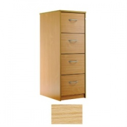 Sunflower Medical Japanese Ash Four-Drawer Filing Cabinet