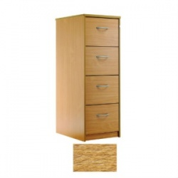 Sunflower Medical Light Oak Four-Drawer Filing Cabinet