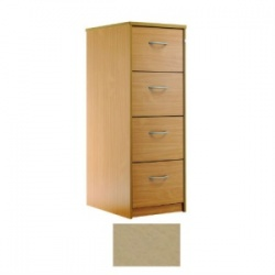 Sunflower Medical Maple Four-Drawer Filing Cabinet