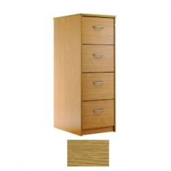 Sunflower Medical Modern Oak Four-Drawer Filing Cabinet