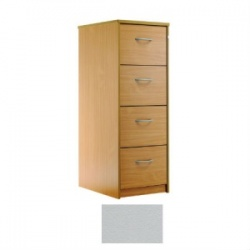 Sunflower Medical Plain Grey Four-Drawer Filing Cabinet