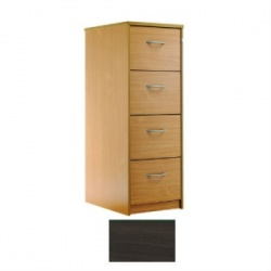 Sunflower Medical Walnut Four-Drawer Filing Cabinet