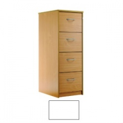 Sunflower Medical White Four-Drawer Filing Cabinet