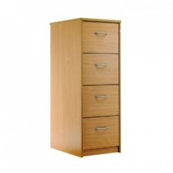Sunflower Medical Beech Four-Drawer Filing Cabinet