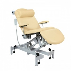 Sunflower Medical Beige Fusion Powered Headrest Treatment Chair with Single Foot Section and Tilting Seat