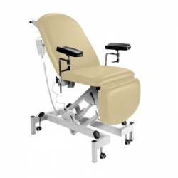 Sunflower Medical Beige Fusion Electric Height Phlebotomy Chair with Electric Back and Foot Sections