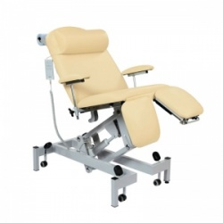 Sunflower Medical Beige Fusion Electric Height Treatment Chair with Split Foot Section and Tilting Seat