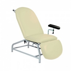 Sunflower Medical Beige Fusion Fixed-Height Phlebotomy Chair with Adjustable Feet