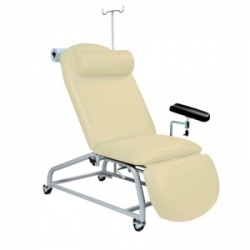 Sunflower Medical Beige Fusion Fixed-Height Phlebotomy Chair with Locking Castors