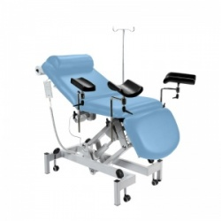Sunflower Medical Cool Blue Fusion Drop End Multi-Discipline Couch with Electric Adjustment