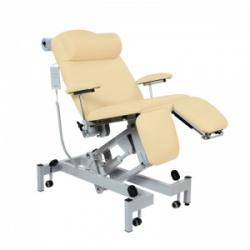Sunflower Medical Beige Fusion Powered Headrest Treatment Chair with Split Foot Section and Tilting Seat