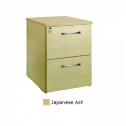 Sunflower Medical Japanese Ash Two Drawer Desk Height Pedestal (80cm Depth)