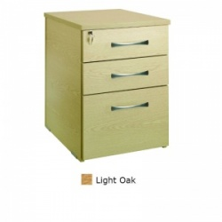 Sunflower Medical Light Oak Three Drawer Desk Height Pedestal (60cm Depth)